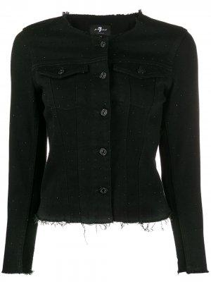 Декорированная джинсовая куртка 7 For All Mankind. Цвет: черный