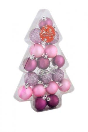 Набор елочных шаров Зимнее волшебство. Цвет: розовый