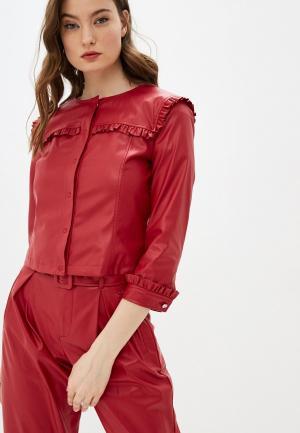 Куртка кожаная Liu Jo White Label. Цвет: красный