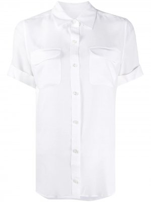 EQUIPMENT Q23E542 BRIGHT WHITE Natural (Vegetable)->Cotton. Цвет: белый