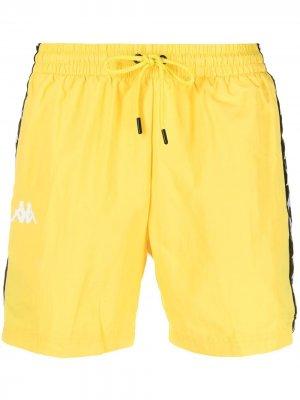 Плавки-шорты Coney с логотипом Kappa. Цвет: желтый