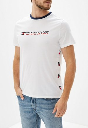 Футболка Tommy Sport. Цвет: белый