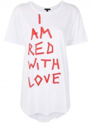 Футболка Red With Love Ann Demeulemeester. Цвет: белый