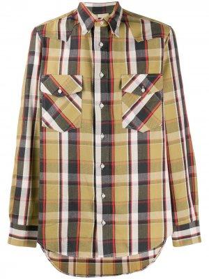 Рубашка в стиле вестерн Gitman Vintage. Цвет: желтый