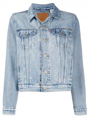 Levis джинсовая куртка Original Sherpa Trucker Levi's. Цвет: синий