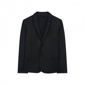 Пиджак на двух пуговицах Emporio Armani. Цвет: синий