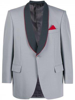 Пиджак Trunks 1970-х годов с лацканами-шалькой A.N.G.E.L.O. Vintage Cult. Цвет: серый