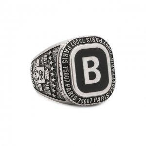 Кольцо Stone B Balenciaga. Цвет: серебряный
