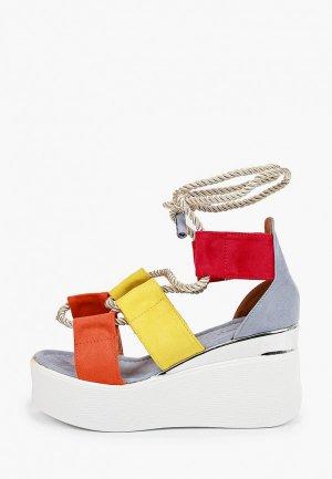 Босоножки Ideal Shoes. Цвет: разноцветный