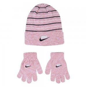 Space Dyed Beanie Set Nike. Цвет: розовый