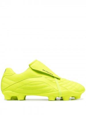 Кроссовки Soccer с логотипом Balenciaga. Цвет: зеленый
