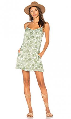 Платье tropique Obey. Цвет: зеленый