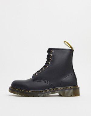 Черные ботинки из искусственной кожи с 8 парами люверсов 1460-Черный цвет Dr Martens
