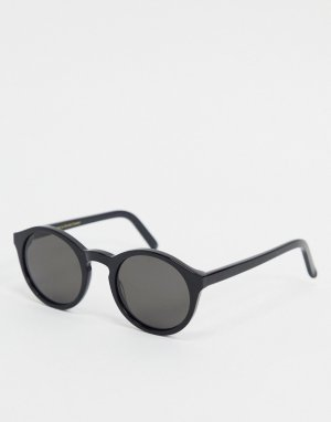 Черные круглые солнцезащитные очки Monokel Barstow-Черный Eyewear