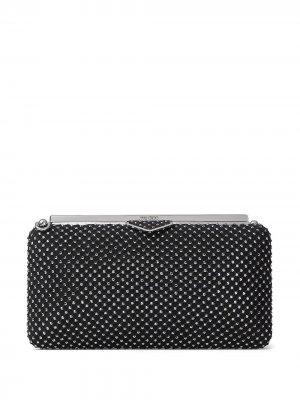 Ellipse crystal-embellished clutch bag Jimmy Choo. Цвет: черный