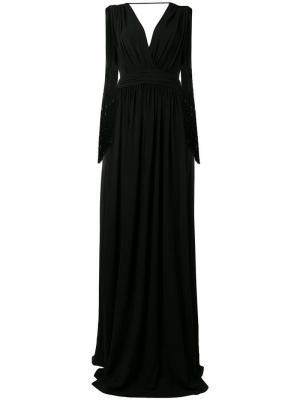 Длинное вечернее платье Alberta Ferretti. Цвет: черный