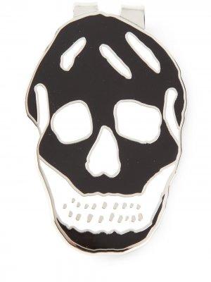 Зажим для денег с черепом Alexander McQueen. Цвет: золотистый