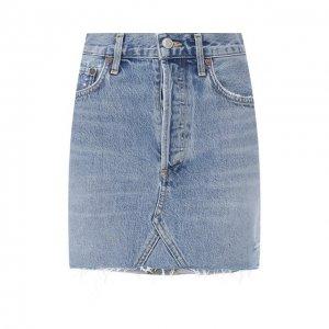 Джинсовая юбка Agolde. Цвет: синий