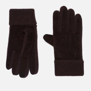 Перчатки Suede/Merino Sandwich Polo Ralph Lauren. Цвет: коричневый