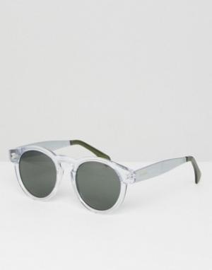 Круглые солнцезащитные очки в прозрачной оправе Clement Komono. Цвет: прозрачный