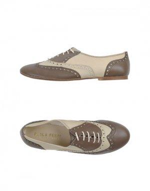 Обувь на шнурках PAOLA FERRI BY ALBA MODA. Цвет: хаки