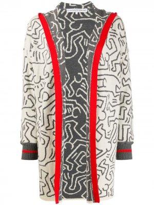 Кардиган 2000-х годов из коллаборации с Keith Haring JC de Castelbajac Pre-Owned. Цвет: серый
