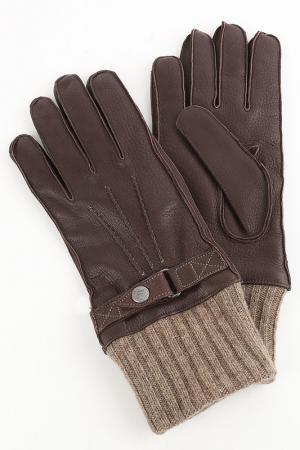 Перчатки Corneliani. Цвет: коричневый