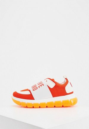 Кроссовки Love Moschino. Цвет: оранжевый
