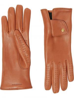 Перчатки с кашемировой подкладкой Burberry. Цвет: коричневый