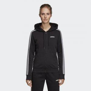 Флисовая худи Essentials 3-Stripes Sport Inspired adidas. Цвет: черный