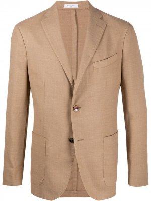 Пиджак K-Jacket свободного кроя Boglioli. Цвет: коричневый