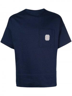 Базовая футболка Cerruti 1881. Цвет: синий