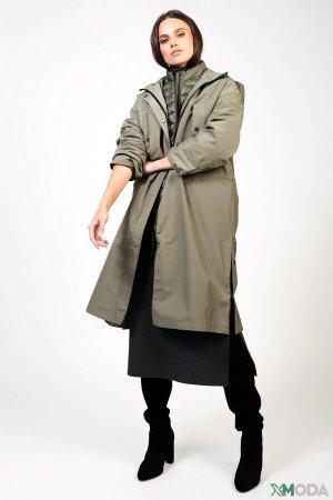Пальто Set. Цвет: зелёный