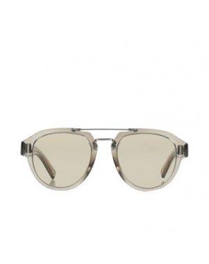 Солнечные очки DIOR HOMME. Цвет: светло-серый