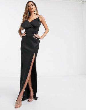 Платье макси для груди большого размера -Черный ASOS DESIGN