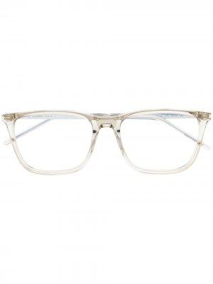 Очки в квадратной оправе Saint Laurent Eyewear. Цвет: белый