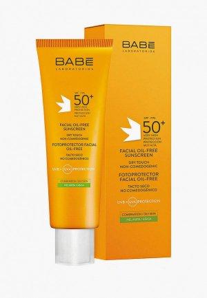 Крем для лица Babe Laboratorios солнцезащитный, безмасляный, SPF-50, 50 мл. Цвет: белый