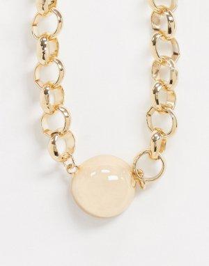 Ожерелье с подвеской -Золотой ASOS DESIGN