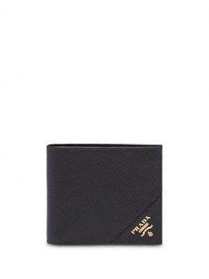 Кошелек с логотипом Prada. Цвет: черный