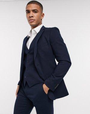 Узкий фланелевый пиджак wedding-Темно-синий French Connection