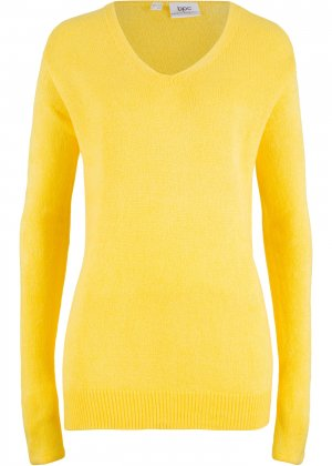 Пуловер оверсайз bonprix. Цвет: желтый