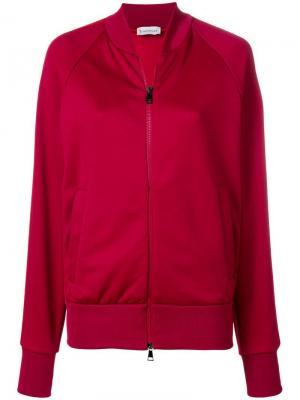 Side stripe bomber jacket Moncler. Цвет: красный