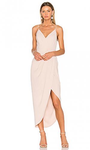 Коктейльное платье с драпировкой Shona Joy. Цвет: розовый