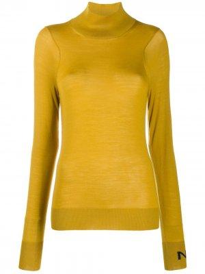 Джемпер с высоким воротником Nina Ricci. Цвет: желтый