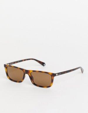 Солнцезащитные очки в стиле унисекс с узкими линзами -Коричневый цвет Polaroid