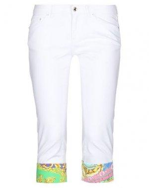 Джинсовые брюки-капри EAN 13. Цвет: белый
