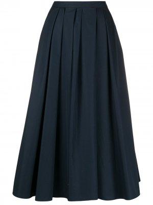 S Max Mara юбка миди со складками 'S. Цвет: синий