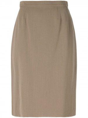 Прямая рубашка Krizia Pre-Owned. Цвет: нейтральные цвета