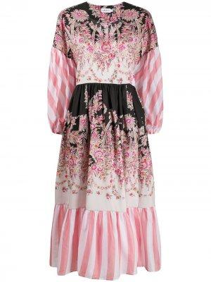 Платье Octavie Hilary с запахом Liberty London. Цвет: черный