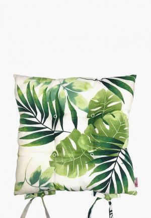 Подушка на стул Altali Тропикана. Цвет: зеленый